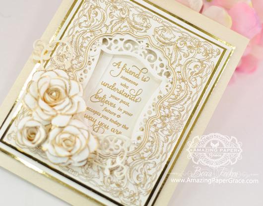 Friendship Card Making Ideas by Becca Feeken using JustRite and Spellbinders