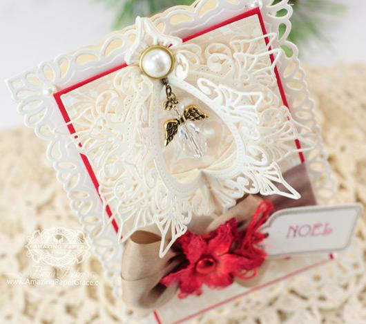 Christmas Card Making Ideas by Becca Feeken using JustRite and Spellbinders