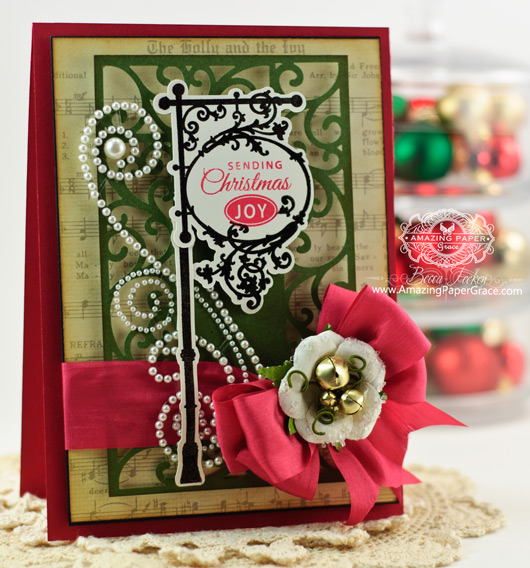 Christmas Card Making Ideas by Becca Feeken using JustRite Signs of Christmas