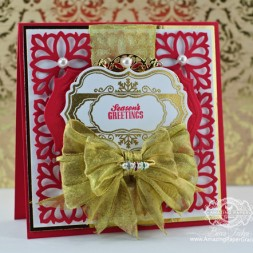 Christmas Card Making Ideas by Becca Feeken using JustRite ??? and Spellbinders