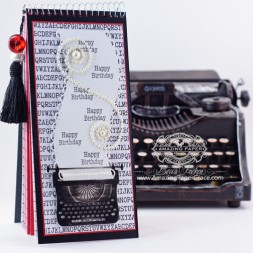 Project Making Ideas by Becca Feeken - Birthday Date Keeper - using Spellbinders Typewriter