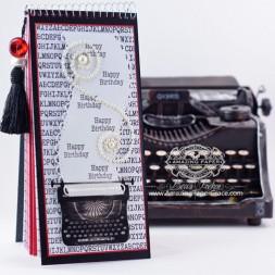 Project Making Ideas by Becca Feeken - Birthday Date Keeper - using Spellbinders Typewriter