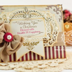 Christmas Card Making Ideas by Becca Feeken using Mix and Match Christmas Blessings and Spellbinders