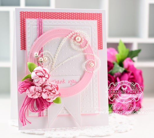 Thank You Card Making Ideas by Becca Feeken using Spellbinders Celebra'tions Line