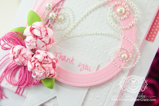 Thank You Card Making Ideas by Becca Feeken using Spellbinders Celebra'tions Line (Closeup)