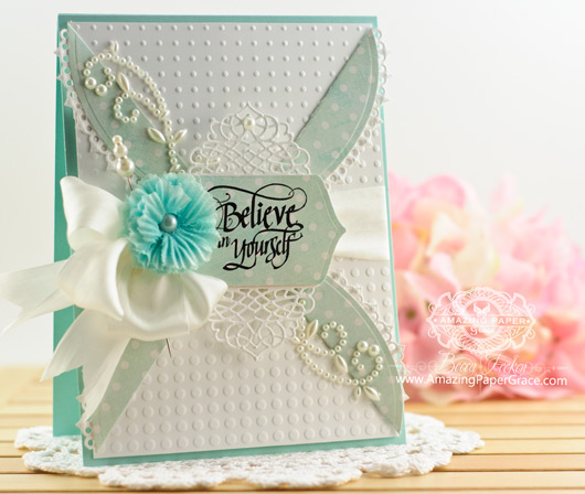 Encouragement Card Making Ideas by Becca Feeken using Quietfire Design If You Don't Believe in Miracles and Spellbinders