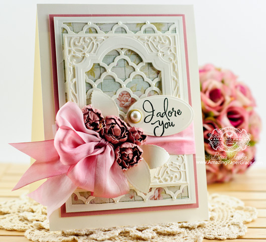 Card Making Ideas by Becca Feeken using Spellbinders Grateful Lattice