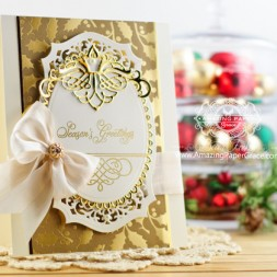 Christmas Card Making Ideas by Becca Feeken using Amazing Paper Grace Elegant Christmas Swirls