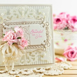 Friendship Card Making Ideas by Becca Feeken using JustRite Vintage Labels Eight and Spellbinders Antique Corner