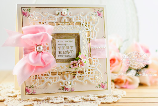 Birthday Card Making Ideas by Becca Feeken using Spellbinders Corners and Accents Two over on www.amazingpapergrace.com