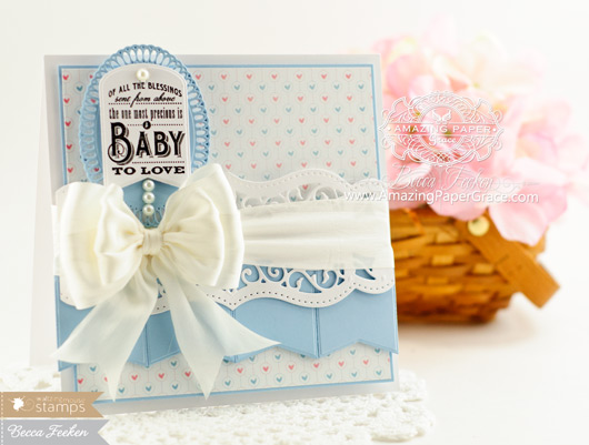 Baby Card Makiing Ideas by Becca Feeken using Waltzingmouse Little Darlings - www.amazingpapergrace.com