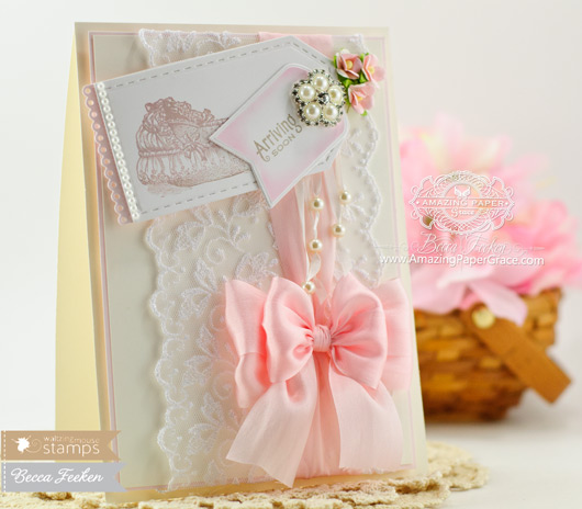 Baby Card Making Ideas by Becca Feeken using Waltingmouse Little Darlings - www.amazingpapergrace.com