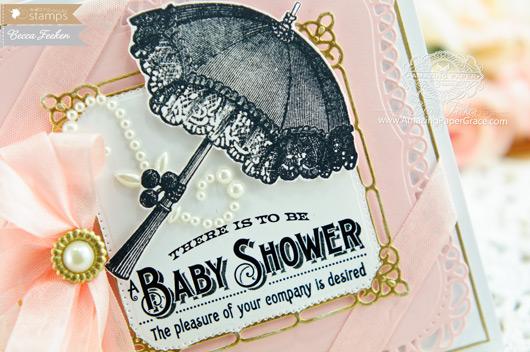 Card Making Ideas by Becca Feeken using Waltzingmouse Vintage Baby Shower