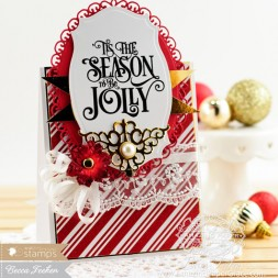 Christmas Card Making Ideas by Becca Feeken using Waltzingmouse 'Tis the Season and Spellbinders - www.amazingpapergrace.com