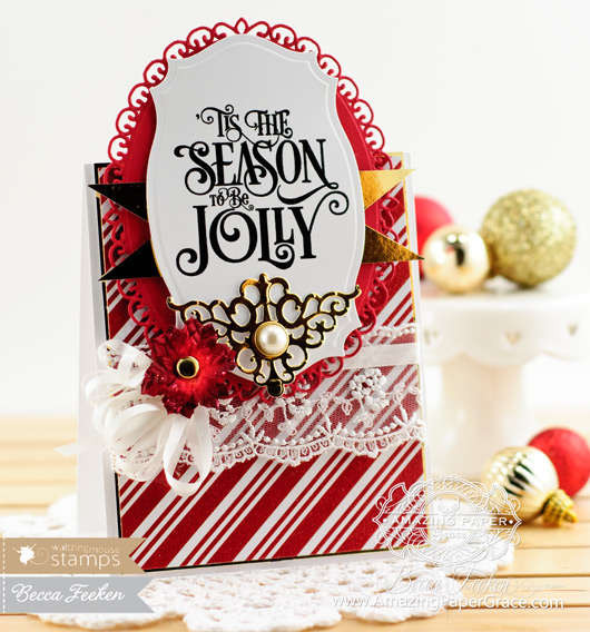 Christmas Card Making Ideas by Becca Feeken using Waltzingmouse