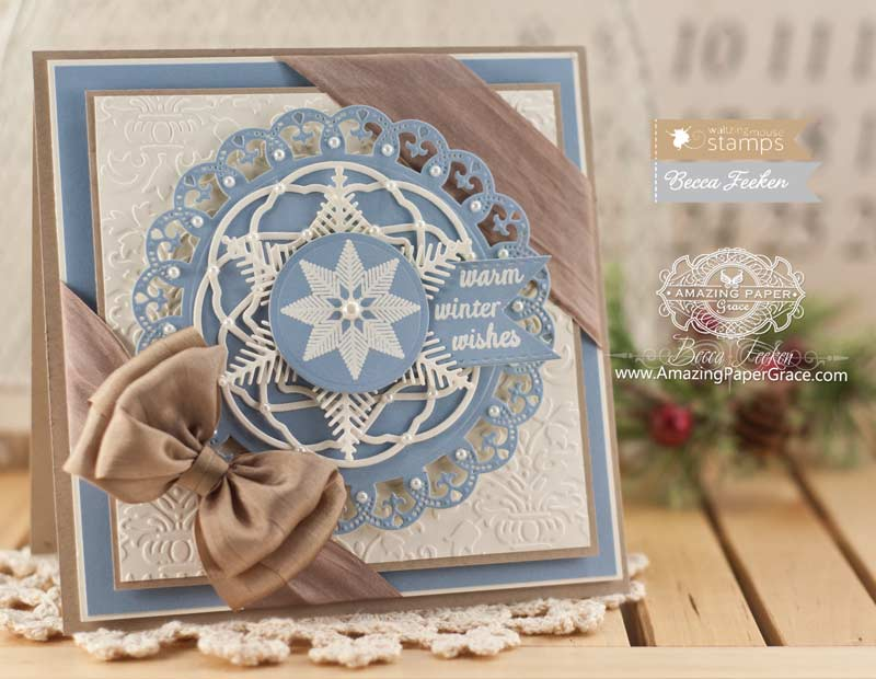 Wonderful Card Making Ideas Using Dies Part - 1: Christmas Card Making Ideas Using Waltzingmouse Flurries And Pretty Panels  1 And Snowflake 1 Die Set