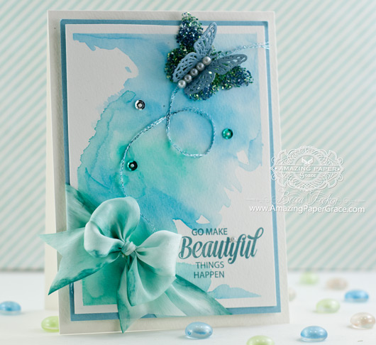 Card Making Ideas by Becca Feeken using JustRite Papercrafts Brush Stokes and Spellbinders - www.amazingpapergrace.com
