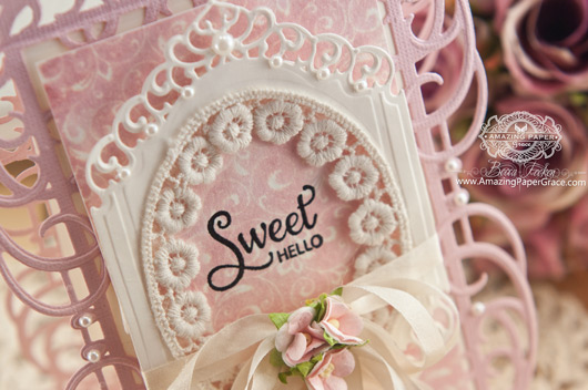 Card Making Ideas by Becca Feeken using  JustRite Sweet Posies and Spellbinders Mystical Embrace and Divine Eloquence