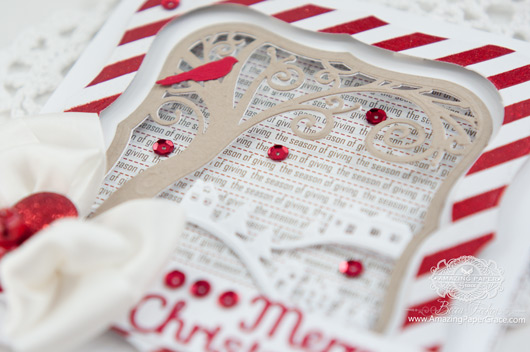 Christmas Card Making Ideas by Becca Feeken using Spellbinders  Picture Perfect and Holiday Sentiments - www.amazingpapergrace.com