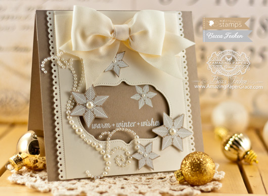 Christmas Card Making Ideas by Becca Feeken using Waltzingmouse Flurries and Pretty Panels 1 - www.amazingpapergrace.com