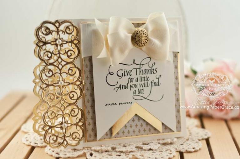 Cardmaking Ideas by Becca Feeken using Spellbinders Mary Strip - www.amazingpapergrace.com