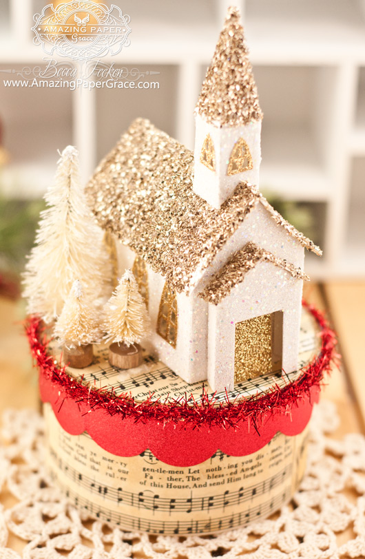Christmas Gift Making Ideas by Becca Feeken using new A Gilded Life Beacon Street Chapel - www.amazingpapergrace.com