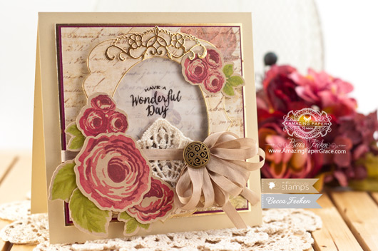 Card Making Ideas by Becca Feeken using Waltzingmouse Stamps - Country Roses and Spellbnders  Labels Thirty Nine - www.amazingpapergrace.com