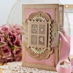 Card Making Ideas by Becca Feeken Using Waltzingmouse Stamps Vintage Post Cards and Spellbinders