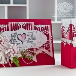 Valentines Day Card Making Ideas by Becca Feeken using Quietfire Design ??? and Spellbinders Gate Element - www.amazingpapergrace.com