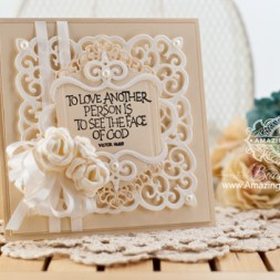 Card Making Ideas by Becca Feeken using Spellbinders Victorian Medallion Three - www.amazingpapergrace.com