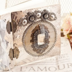 Vintage Silver Tray Book Made by Becca Feeken in class given by Michelle Hurtt with Vintage Bloom Studio