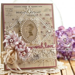 Mothers Day Card Making Ideas by Becca Feeken using Spellbinders Blooming Collection - see www.amazingpapergrace.com for full supply list
