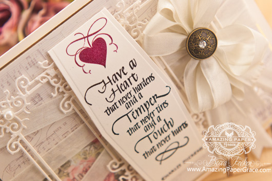 Card Making Ideas by Becca Feeken using Quietfire Design - Have a Heart That Never Hardens and Spellbinders Blooming Collection and Belly Band Two - www. amazingpapergrace.com