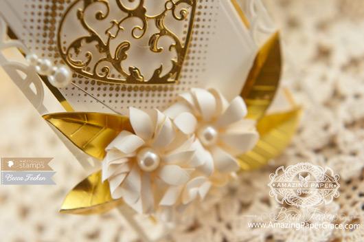 Card Making Ideas by Becca Feeken using Waltzingmouse Half Tone Backgrounds and Spellbinders Flutter Love - www.amazingpapergrace.com