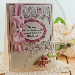 Card Making Ideas by Becca Feeken using Spellbinders Grate Effect and Oval Majesty - www.amazingpapergrace.com