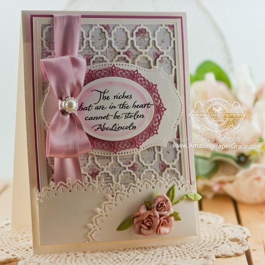 Card Making Ideas by Becca Feeken using Spellbinders  Grate Effect and Oval Majesty - www.amazingpapergrace.com