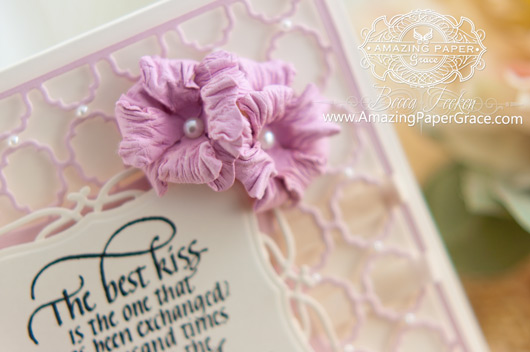 Card Making Ideas by Becca Feeken using Quietfire Design (The Best Kiss) and Spellbinders Labels One Card Front - tutorial at  www.amazingpapergrace.com
