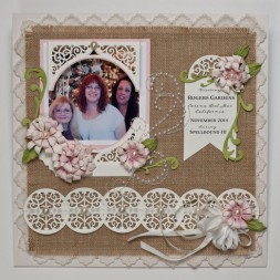 Scrapbook Page by Becca Feeken using Spellbinders Swirl Bliss Pocket in the Amazing Paper Grace Collection - www.amazingpapergrace.com