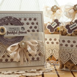 Card Making Ideas by Becca Feeken using JustRite Papercraft Furry Friends and Pet Sympathy Sentiments - www.amazingpapergrace.com