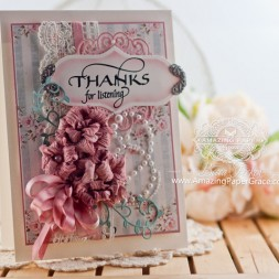 Thank you card making ideas by Becca Feeken using Quietfire Design Thank you Cuddlers and Spellbinders Garden Blooms, Spellbinders Reflection and Spellbinders Labels 33 - www.amazingpapergrace.com