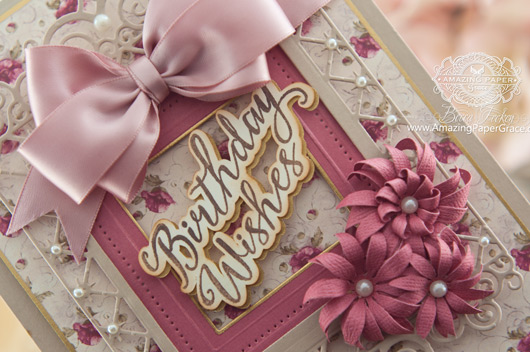 Birthday Card Making Ideas by Becca Feeken using JustRite Grand Handwritten Sentiments and Spellbinders Labels 47 Decorative Elements, Spellbinders Pierced Squares, Spellbinders Blooms Four - www.amazingpapergrace.com