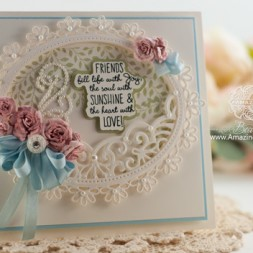 CCard Making Ideas by Becca Feeken using JustRite Choose Joy and Spellbinders Oval Floral, Heirloom Oval and Bitty Blossoms - www.amazingpapergrace.com
