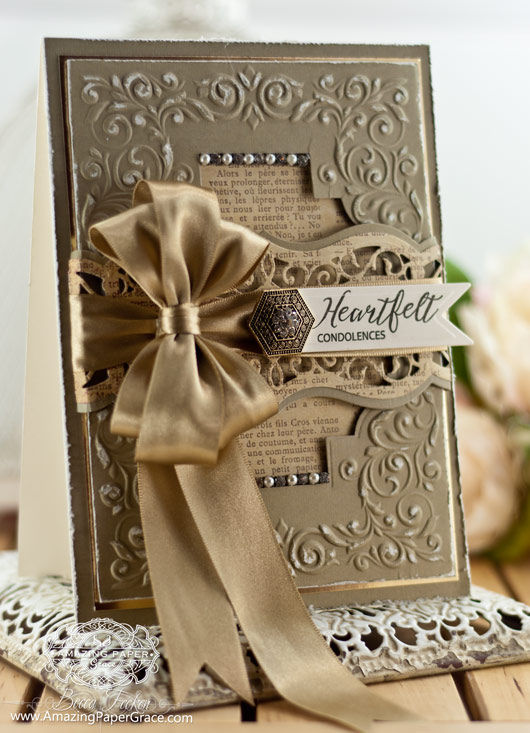 Sympathy Card Making Ideas by Becca Feeken using JustRite Sympathy Handwritten Sentiments, Spellbinders Labels Forty Three and Spellbinders Shady Allure - www.amazingpapergrace.com