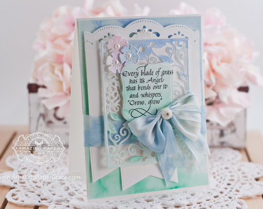 Card Making Ideas by Becca Feeken using Quietfire Design and Spellbinders Tudor Rose Decorative  Card Front - www.amazingpapergrace.com