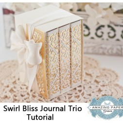 Swirl Bliss Journal Trio Tutorial by Becca Feeken - www.amazingpapergrace.com