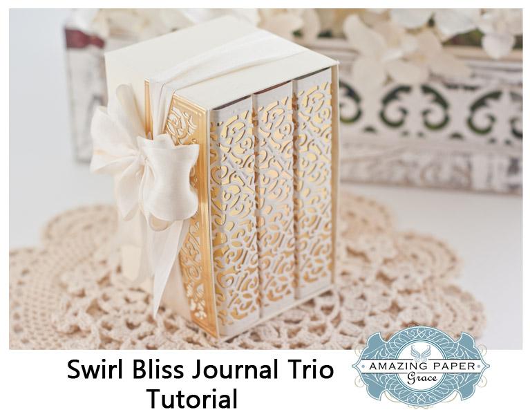 Swirl Bliss Journal Trio Tutorial by Becca Feeken - www.amazingpapergrace.com