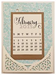 February Calendar Page by Becca Feeken - www.amazingpapergrace.com
