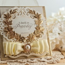 Card Making Ideas by Becca Feeken using Quietfire Design - I Dwell in Possibility and Spellbinders Royal Medallions - www.amazingpapergrace.com