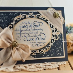 Card Making Ideas by Becca Feeken using Spellbinders Shady Allure and Serendipity Stamps - The Peace of God