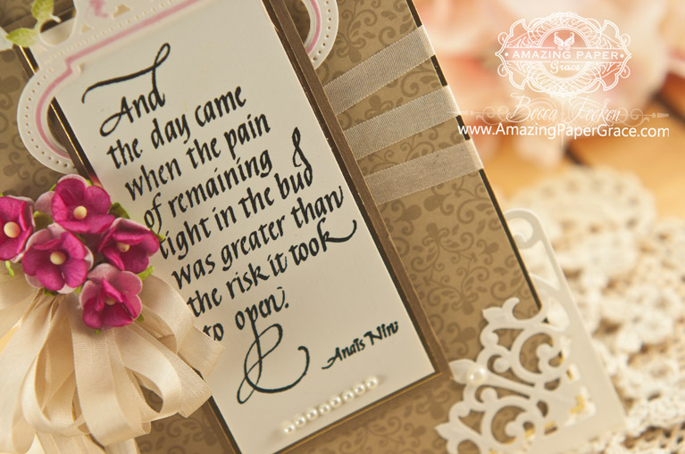 Cardmaking Ideas by Becca Feeken using Quietfire Design and Spellbinders Antique Corner - www.amazingpapergrace.com